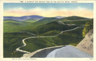 Skyline Drive, Virginia Postcard