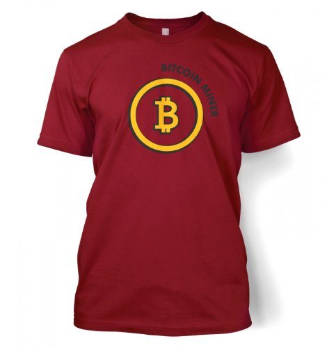 Something Geeky PP – Bitcoin Miner T-shirt  Cardinal Red