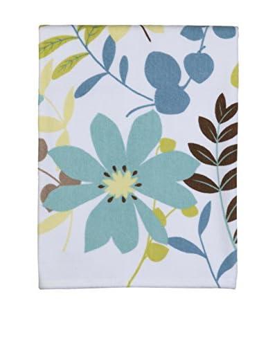 Creative Bath Paradise Printed Bath Towel, Aqua/White
