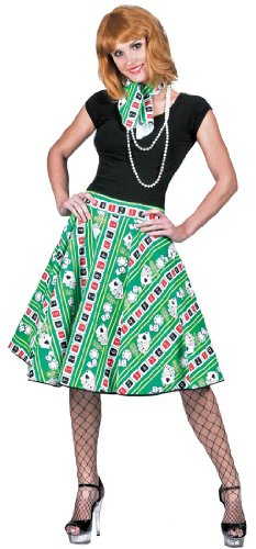 [Lucky Lady Poker Adult Costume - Womens Std.] (Lucky Lady Casino Costume)