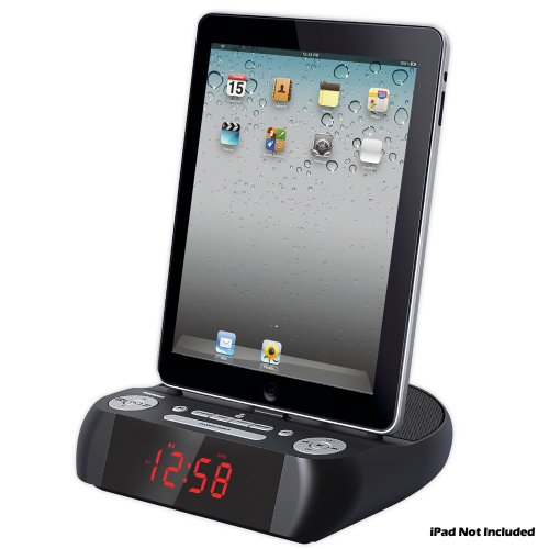 Pyle Home Picl90Pad Fm 30-Pin Ipod/Iphone/Ipad Alarm Clock Speaker Dock