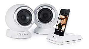 Roth Audio RCP2W CHARLiE 2.0 Desktop Speaker System with USB and Wireless Dock - White