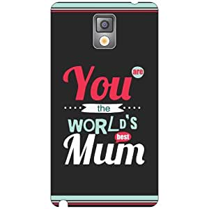 Samsung Galaxy Note 3 worlds mum Phone Cover - Matte Finish Phone Cover