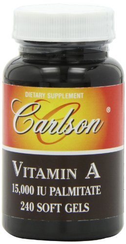 Carlson Labs Vitamin A Palmitate, 15000 Iu, 240 Softgels