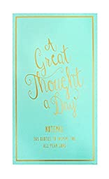 Eccolo World Traveler Thought A Day Notepad, Sea foam (T609A) by Eccolo World Traveler
