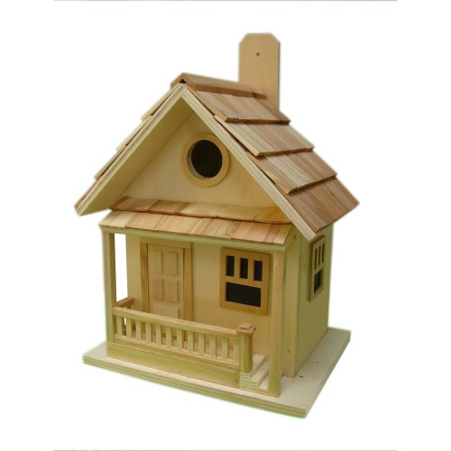 Home Bazaar The Kottage Kabin Birdhouse, Natural photo
