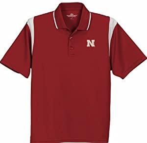 Nebraska Cornhuskers Multi Color Polo Red by Vansport