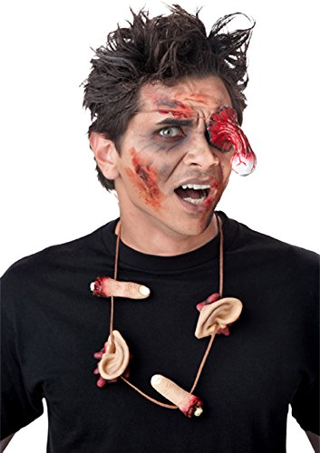 [Zombie Eye Patch and Necklace Halloween Costume Accessories Set] (Simple Halloween Masks)