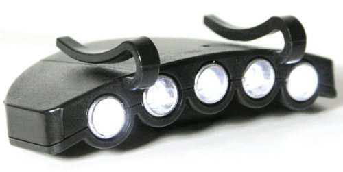 """Hands-Free """"Clip On"""" Light For Fishing, Camping, Outdoor Activities - 5 Super-Bright Led"""