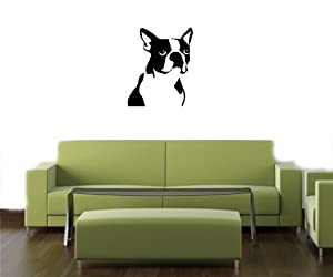 Boston Terrier Wall Sticker Decals Art Mural O137