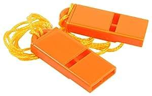Rothco Flat Whistle/Safety Orange (2/Pk)