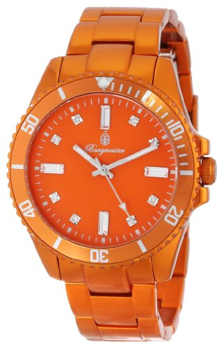Burgmeister Color Sport Women's Quartz Watch with Orange Dial Analogue Display and Orange Bracelet BM161-090D