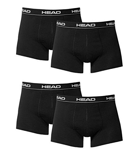 Herren Boxer Boxershort Unterhose 4er Pack black 200 - L