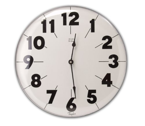 Taylor Metal Outdoor Clock, 18-Inch