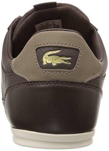 Lacoste Men's Chaymon Prm Fashion Sneaker, Brown, 9.5 M US