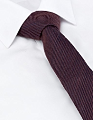 Wool Blend Ribbed Striped Tie