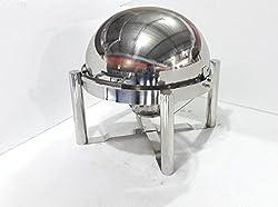 Akhand Jyoti Cheafing Dish Round Doom/Roll Type 7.5 Lit. Cap.