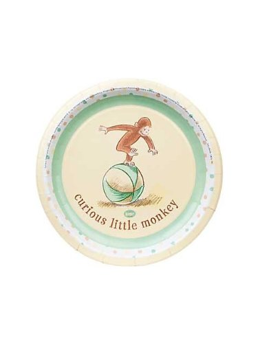 "1st Cute Curious George 9"" Dinner Plates - 8/Pkg."