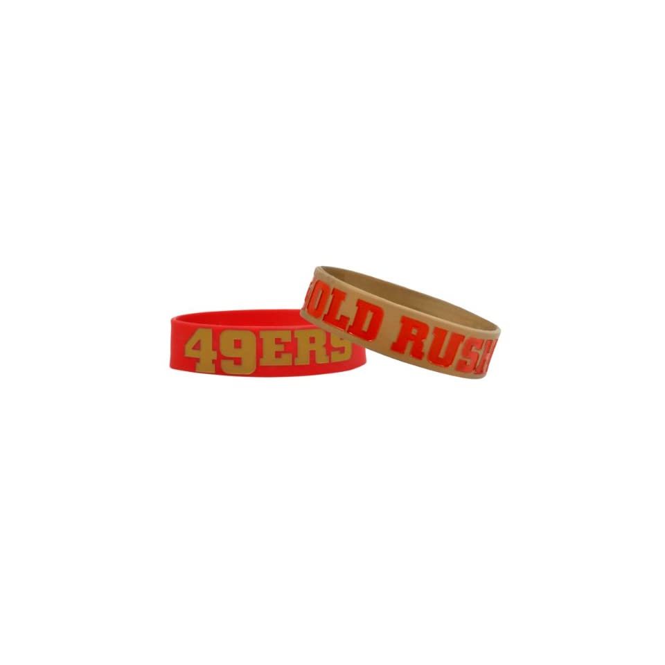 NFL San Francisco 49ers Bulky Bandz Bracelet 2 Pack