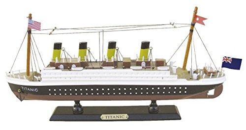 Modell-TITANIC-Schiffsmodell-aus-Holz-36-cm