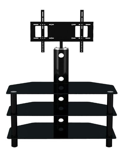 LED/LCD/Plasma 3 Tiered Black Glass TV Stand with TV Mount 32 ' to 52 ' Black Friday & Cyber Monday 2014