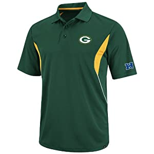 Green Bay Packers NFL Field Classic V Green Synthetic Polo by VF