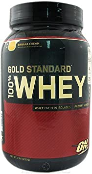 Optimum Nutrition - 100% Whey Gold Standard Protein Banana Cream - 2 lbs. by Optimum Nutrition