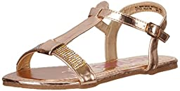 Kensie Girl KG31749 Sandal (Little Kid/Big Kid), Champagne, 12 M US Little Kid