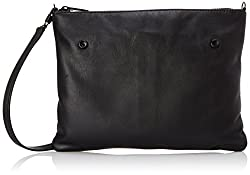 LOEFFLER RANDALL Double Pouch Cross Body Bag, Black/Black White, One Size