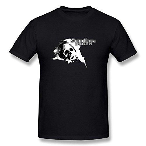 Men's Sepultura Death Rock T Shirt Black