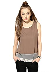 Raindrops Women's Top(1169A003F-Brown-M)