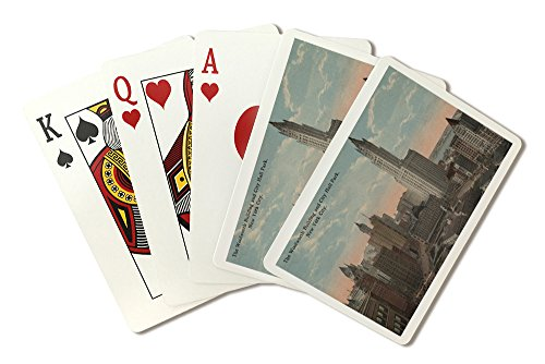 new-york-ny-woolworth-building-and-city-hall-park-playing-card-deck-52-card-poker-size-with-jokers