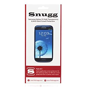 Snugg Galaxy S3 High Transparency Screen Protectors (pack of 2) - Includes Microfiber Cloth and Anti Bubble Leveler