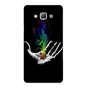 Ajay Enterprises Hnad and Colors Back Case Cover for Galaxy A7