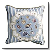 Seashells Decorative Accent Throw Pillow