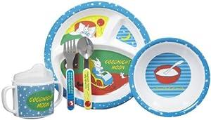 Kids Preferred 5 Piece Goodnight Moon  Melamine Mealtime Set