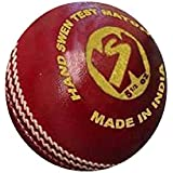 World Sports Genuine Quality Cricket Leather Ball (Red) (Pack Of 5)