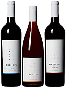 ONEHOPE California Reds III Wine Mixed Pack, 3 x 750 mL