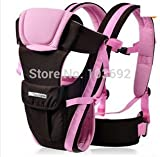 2-30 Months Breathable Multifunctional Front Facing Baby Carrier Infant Comfortable Sling Backpack Pouch Wrap Baby Kangaroo (Pink)