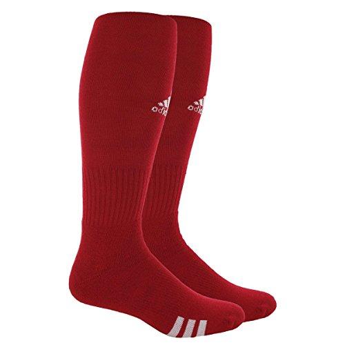 adidas Unisex Rivalry Field 2-Pack Otc sock, University Red/White, Medium (Red Football Socks compare prices)