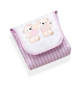 Interbaby 91154-01 - Cambiador portátil para bebé, diseño de osos, color rosa - Bebe Hogar