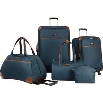 Ninewest Round Trip 5 Piece Luggage Set, Teal, One Size