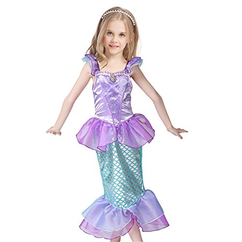 Girls Princess Mermaid Dress