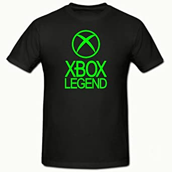 XBOX LEGEND FUNNY NOVELTY BOYS T SHIRT 5-15YRS,XBOX 360,GAMER (12-13 YEARS (152CM) CHEST, BLACK)