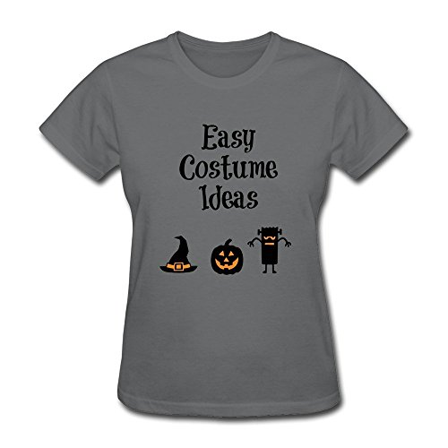 [DASY Women's O Neck Easy Halloween Costume Ideas Shirt Large DeepHeather] (Pepsi Costume Halloween)