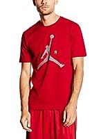Nike Camiseta Manga Corta Air Jumpman (Rojo)