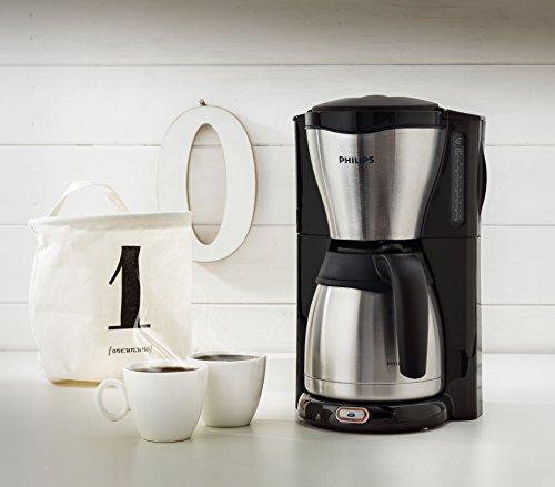 philips hd7546 20 cafeti re filtre isotherme noir et m tal. Black Bedroom Furniture Sets. Home Design Ideas