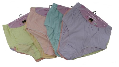 6 Pairs Ladies Full Plus Size Mama Briefs