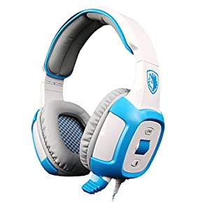 Gaming Headset, HP95(TM) SADES SA-906I Stereo Gaming Headphone Headset with Microphone, Speakers Surround Gaming Headset ,Stereo Bass Headphone Earphone