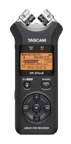 TASCAM DR-07MKII 7.95-Inch Portable Digital Recorder